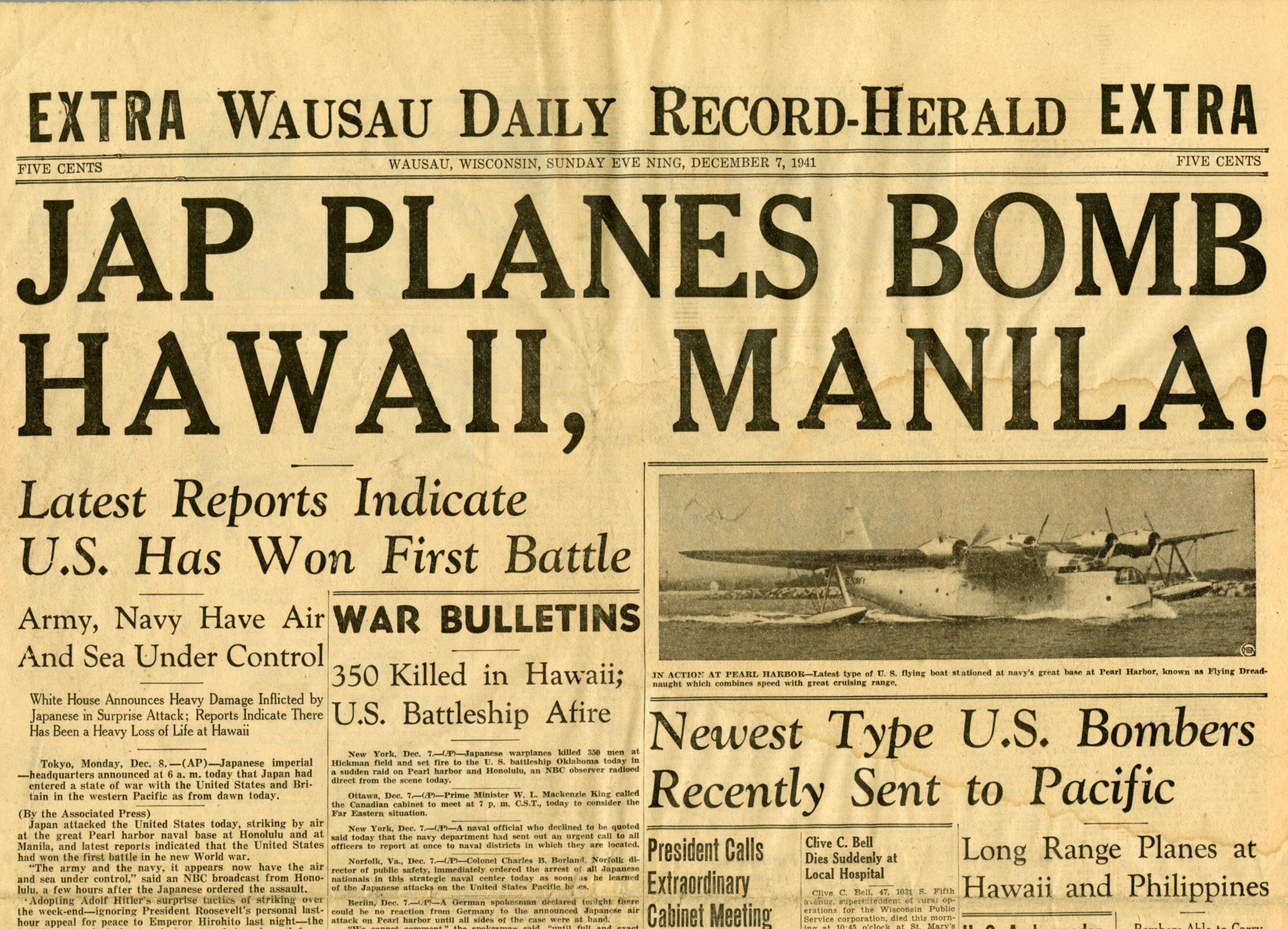WDRH Announces Attack on Pearl Harbor