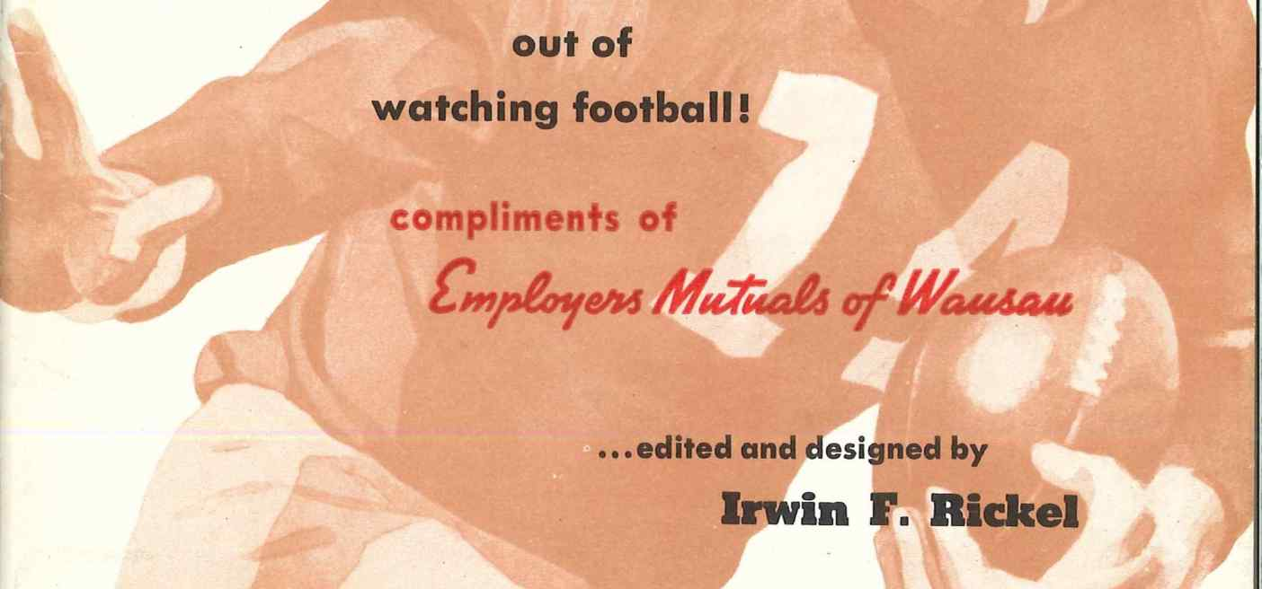 Employers' Mutual's football booklet cover
